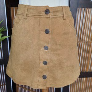 Tree of Life size 10 brown suede like rayon skirt